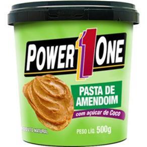 Pasta de Amendoim com Açúcar de Coco - Power One - AMENDOIM - 500 G