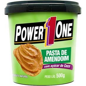 Pasta de Amendoim com Açúcar de Côco - Power One Amendoim 500 G