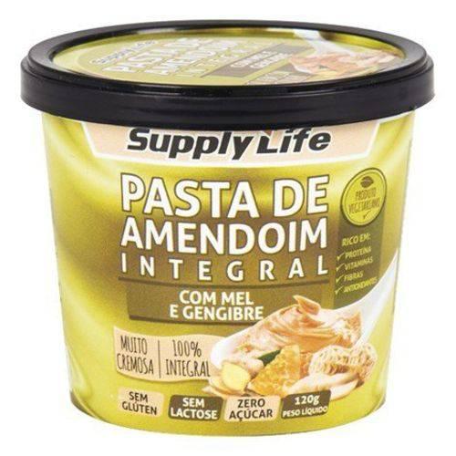 Pasta de Amendoim Integral Mel/gengibre 120g Supply Life
