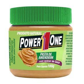 Pasta de Amendoim - Power One - Açúcar de Côco - Pasta de Amendoim - 180 G