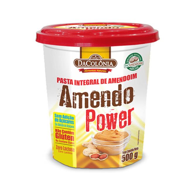 Pasta Integral de Amendoim Amendo Power 500G Dacolônia