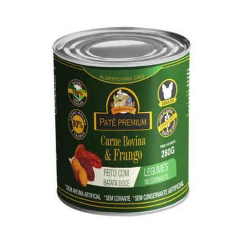 Patê com Batata Doce para Cães Adultos Sabor Carne e Frango Padaria Pet 280g