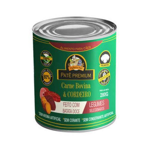 Patê com Batata Doce para Cães Filhotes Sabor Carne e Cordeiro Padaria Pet - 280 G