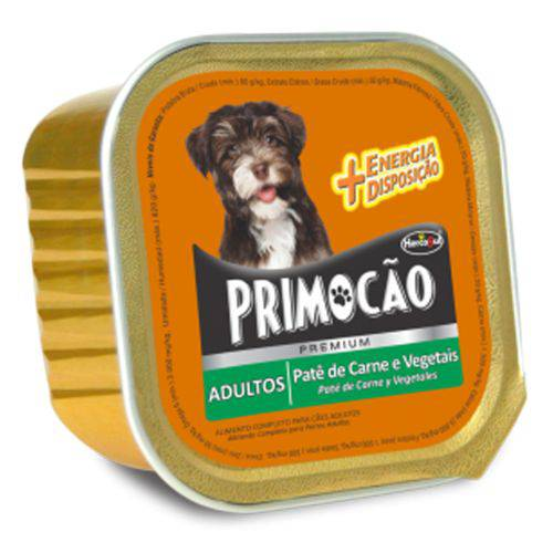 Patê de Carne e Vegetais para Cães Adultos - Primocão - 300g