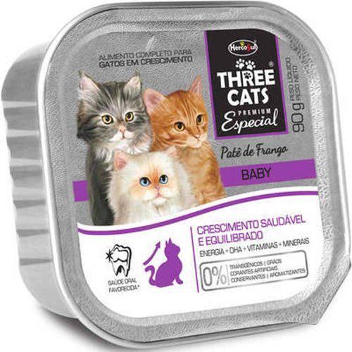 Patê Three Cats Gatos Filhotes Baby 90g