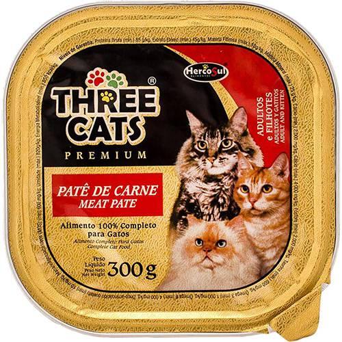 Patê Three Cats Premium P/ Gatos Carne Adultos e Filhotes Hercosul - 300 G