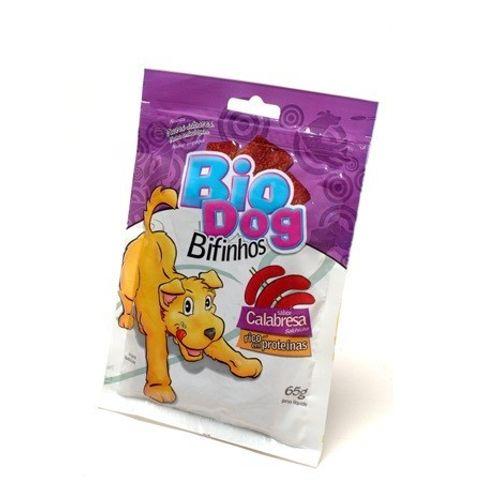 Petisco Bio Dog Bifinho Sabor Calabresa 65g 65g