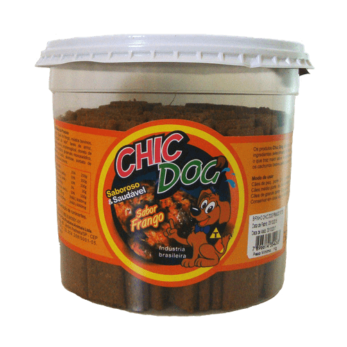 Petisco Chic Dog Bifinho Sabor Frango 450g