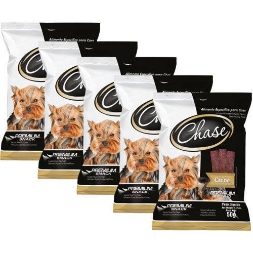 Petisco para Cães Chase Bifinho Carne - 5 Pcs de 50g