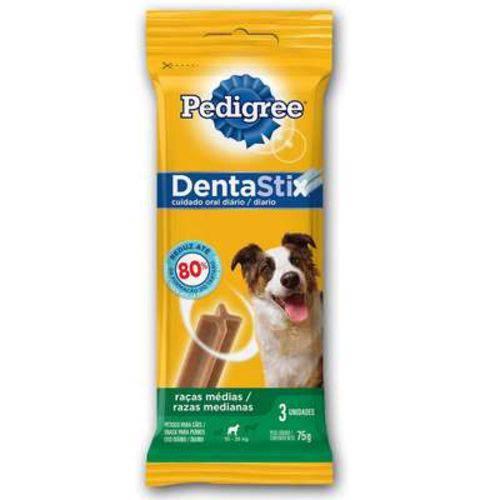 Petisco Pedigree Dentastix para Raças Médias 3 Sticks - 75 G
