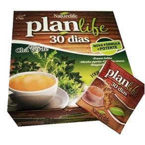 Planlife Chá Verde com 60 Sachês 2g Naturelife