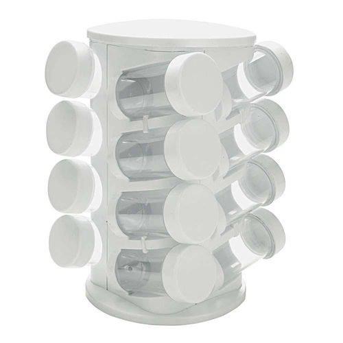 Porta Condimentos Mimo Style com 16 Peças – Branco