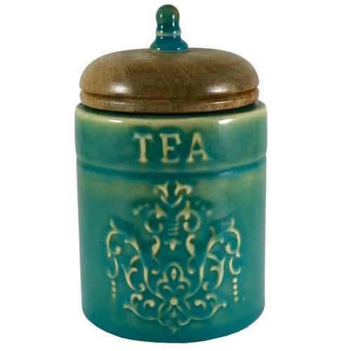 """Pote Hermético Cilíndrico - Porta Chá """"tea"""" - Verde"""