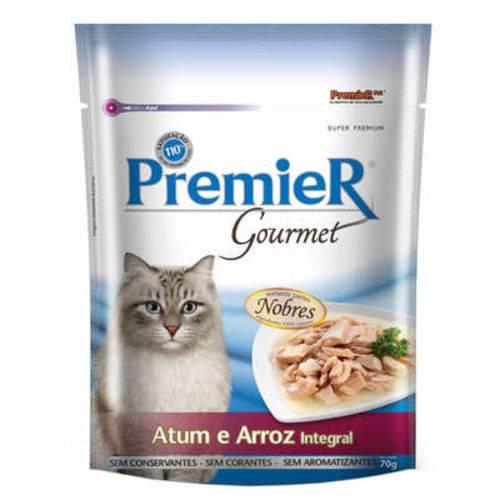 Premier Pet Gourmet Sachê Atum para Gatos Adultos - 10 Unidades