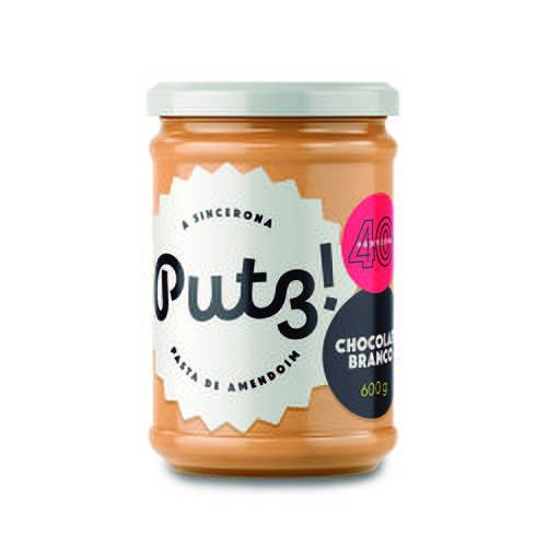 Putz Pasta de Amendoim Chocolate Branco 600g Sem Açúcar