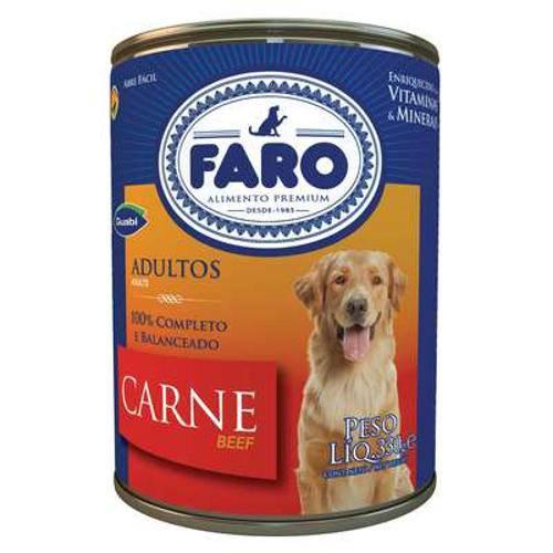 Ração Faro Adulto Carne Lata - 280 G