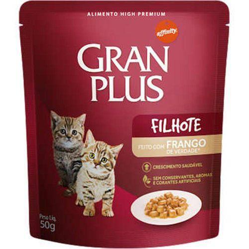 Ração Guabi Gran Plus Sachê Frango para Gatos Filhotes - 50 G