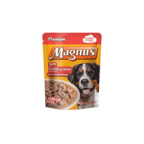 Ração Magnus Sache Sabor Carne ao Molho 85gr