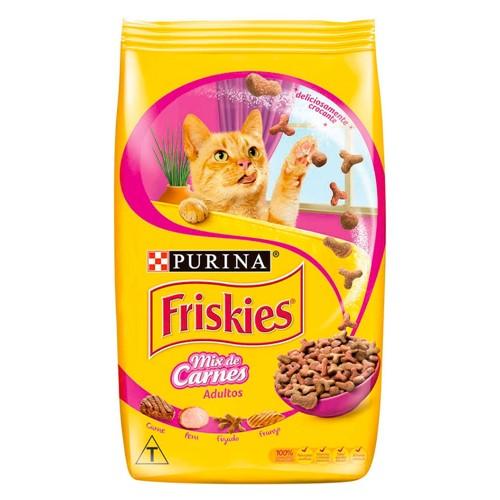 Ração para Gatos Friskies Adulto Sabor Mix de Carnes 500g