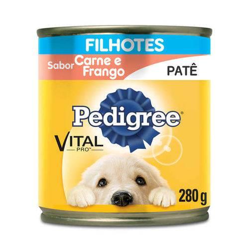 Ração Pedigree Lata Patê de Carne e Frango para Cães Filhotes - 280 G