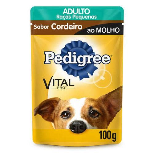 Ração Pedigree Sachê Cordeiro ao Molho para Cães Adultos de Raças Pequenas