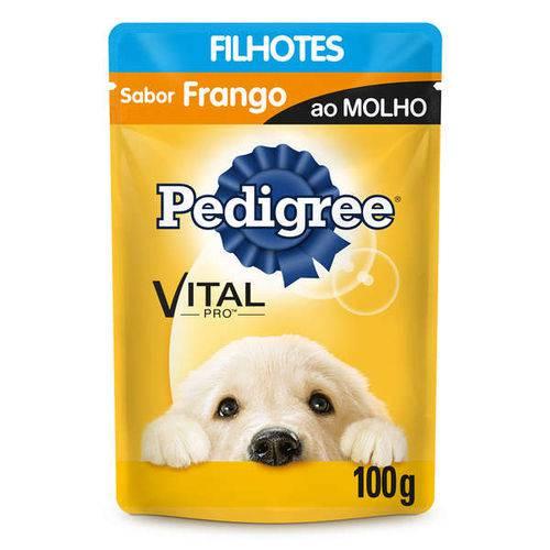 Ração Pedigree Sachê Frango ao Molho para Cães Filhotes
