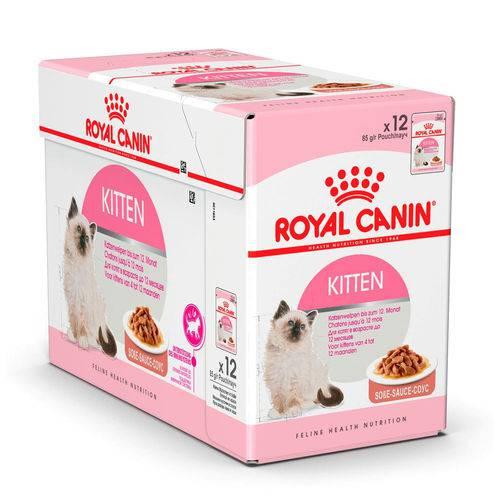 Ração Royal Canin Sachê Feline Kitten - 85g - Caixa 12 Unidades