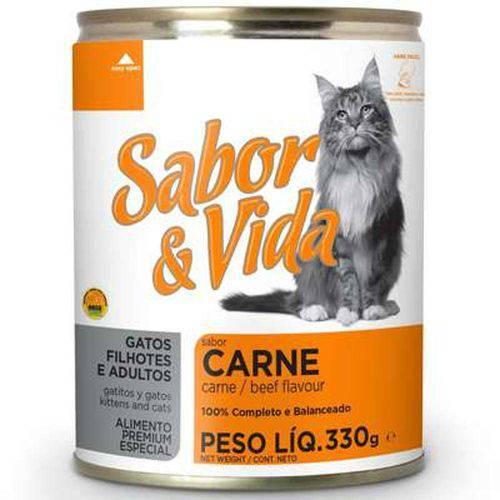 Ração Sabor e Vida em Lata para Gatos Carne - 290gr