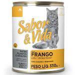 Ração Sabor e Vida em Lata para Gatos Frango - 290 Gr