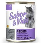 Ração Sabor e Vida em Lata para Gatos Peixe - 290 G