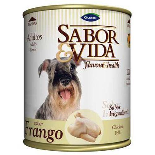 Ração Sabor e Vida para Adultos Cães Frango Lata - 280 G