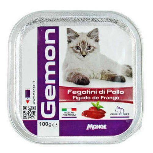 Ração Úmida Gemon Patê de Fígado de Frango para Gatos - 100 G