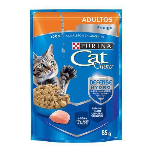 Ração Úmida Nestlé Purina Cat Chow Adultos Sachê Sabor Frango ao Molho Caixa com 15 Unidades 85g