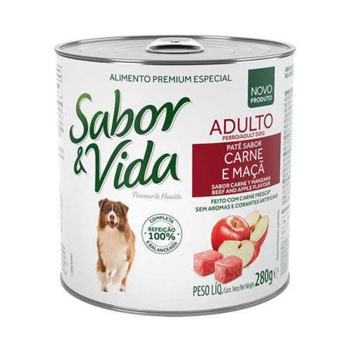 Ração Sabor e Vida para Cães Adulto Carne Lata - 280 G