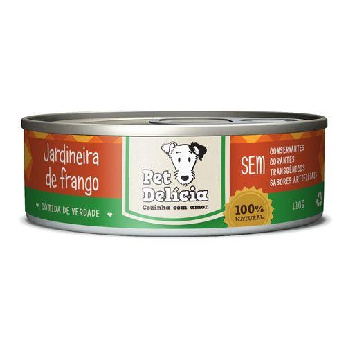 Ração Úmida Pet Delícia Lata para Cães Adultos e Filhotes Sabor Jardineira de Frango - 110g