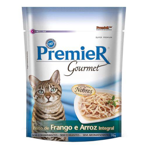 Ração Úmida Premier Pet Gourmet Sachê Frango para Gatos Adultos 70g