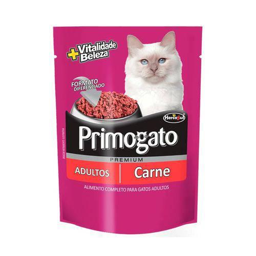 Ração Úmida Sachê Primogato Carne para Gatos Adultos 85g