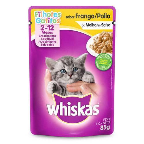 Ração Whiskas Sachê Frango para Gatos Filhotes