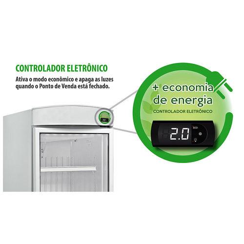 Refrigerador Expositor para Bebidas Metalfrio com Controlador Eletrônico 572 Litros VB52R 220V