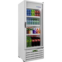 Refrigerador/ Expositor Vertical Metalfrio 1 Porta de Vidro VB40RE2001 406L 110V - Branco