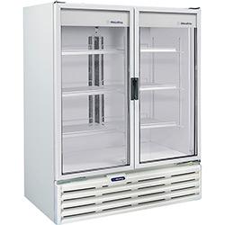 Refrigerador Metalfrio 2 Portas Vertical VB99R Expositor Porta Dupla de Vidro para Bebidas 1.186 Litros - Branco