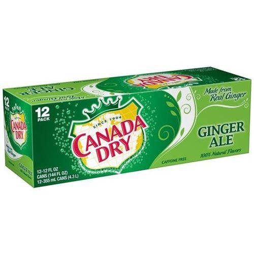 Refrigerante Canada Dry Ginger Ale - 12 Unidades 355ml