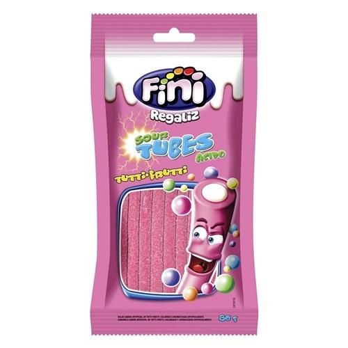 Regaliz Tubes Fini - Tutti-frutti - Pacote 80 G - Unidade