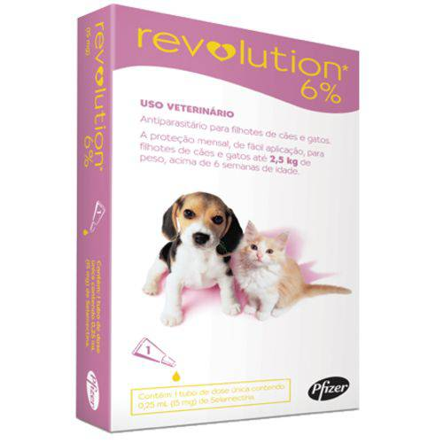Revolution Filhotes de Cães e Gatos Até 2,5kg - 1 Unidade