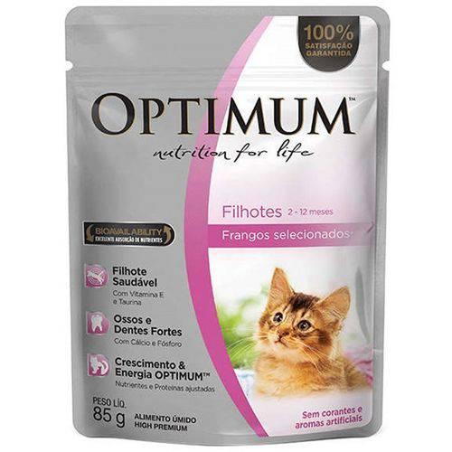 Sachê Optimum Frango para Gatos Filhotes 85g