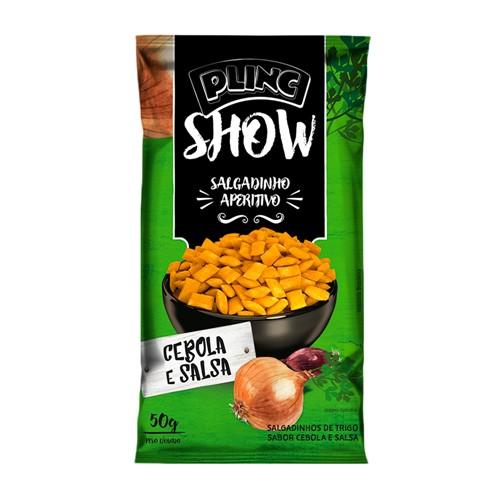 Salgadinho Aperitivo Plinc Show Sabor Cebola e Salsa 50g