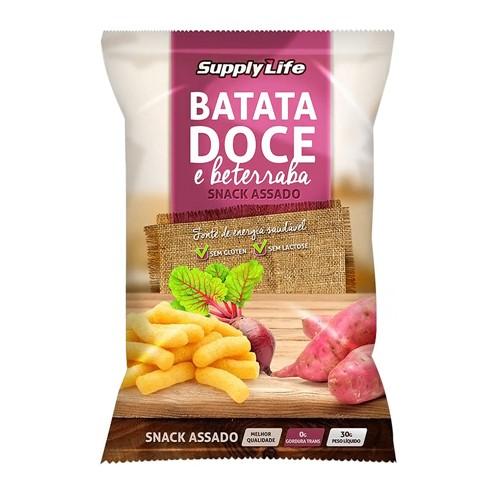 Snack Assado Supply Life Batata Doce e Beterraba com 30g