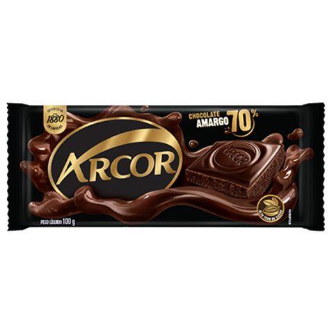 Tablete Chocolate Amargo 70% 100g - Arcor