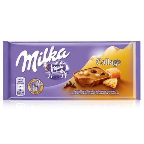 Tablete Chocolate Collage Caramel 93g - Milka
