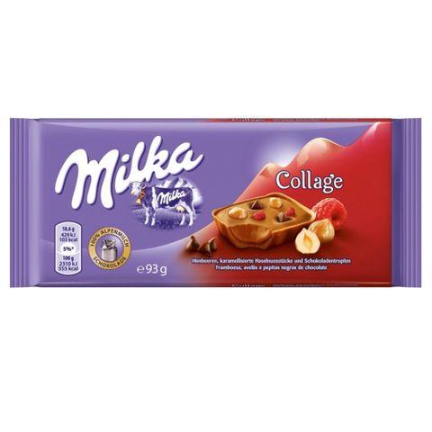 Tablete Chocolate Collage Raspberry 93g - Milka